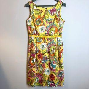 Kate Spade   Yellow Paley Paisley Floral Dress